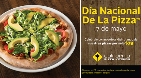 Celebra California Pizza Kitchen el Día Nacional de la Pizza