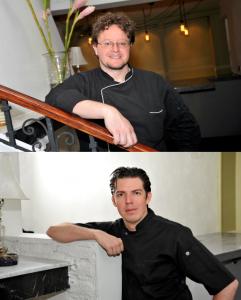 Jhon Chebaux (arriba) y Daniel Téllez, propietarios y chefs ejecutivos de Anona.
