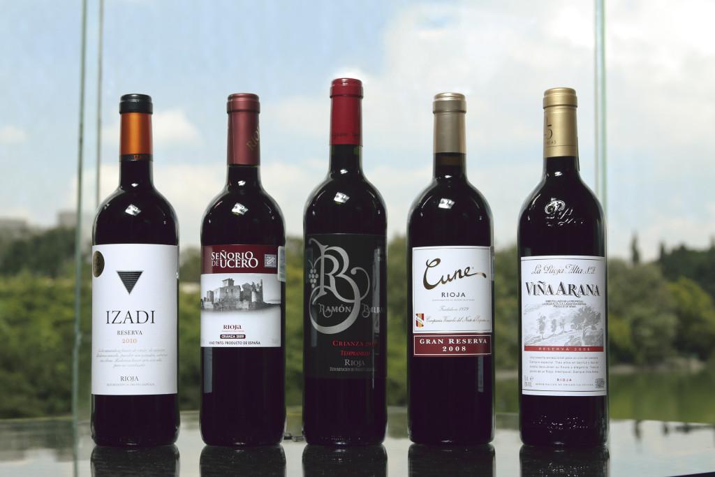 Catando Rioja en el restaurante El Lago