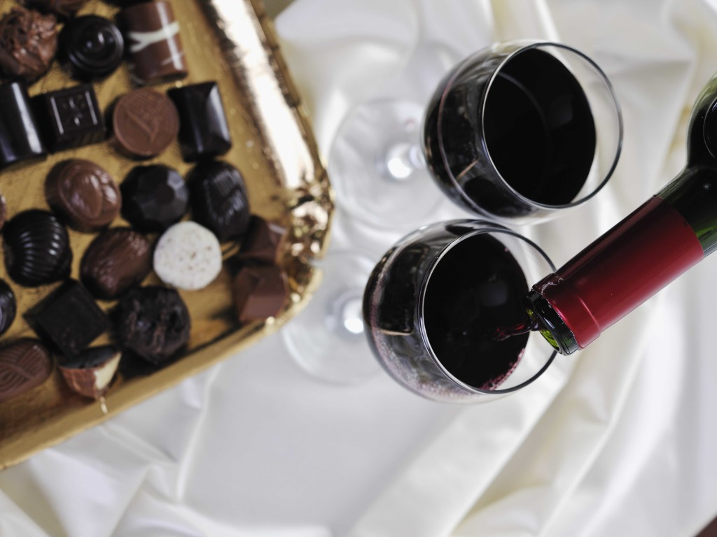 Maridaje vino con chocolate