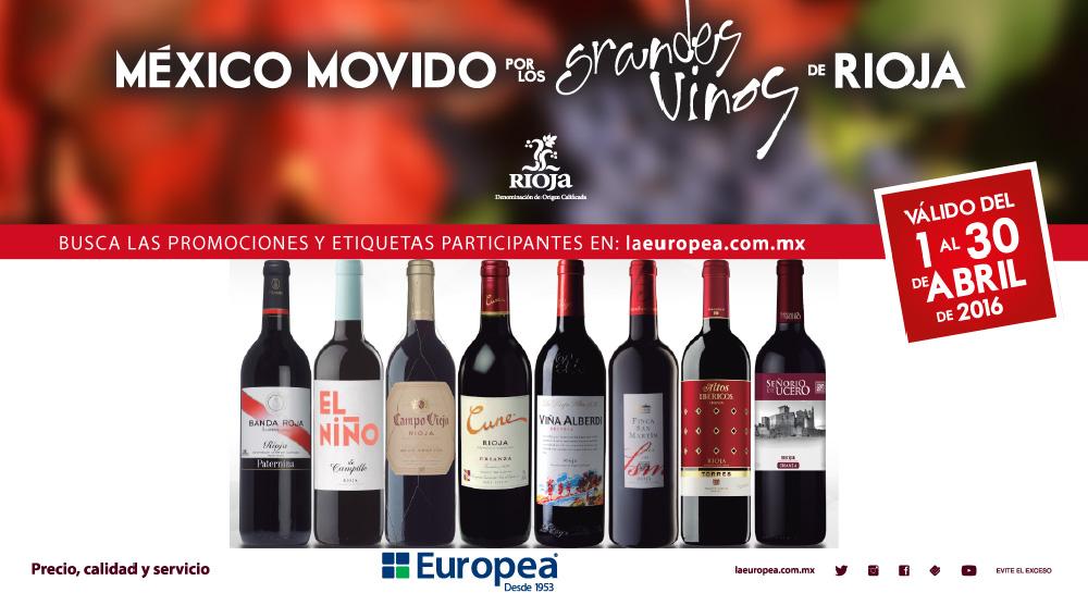 México Movido por los Grandes Vinos de Rioja, en La Europea