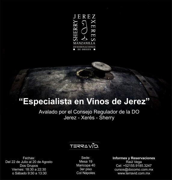 Especializacion en Vinos de Jerez