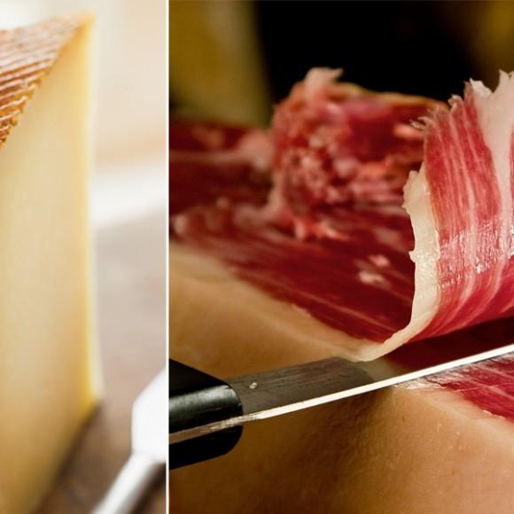 Tortilla de jamón serrano y queso manchego