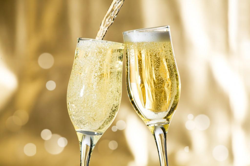 Champagne, burbujas de oro