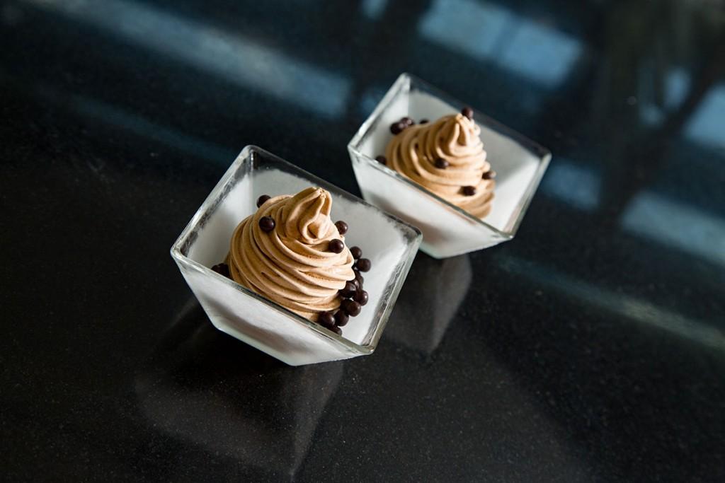 Helado de chocolate origen Sao Thomé con café