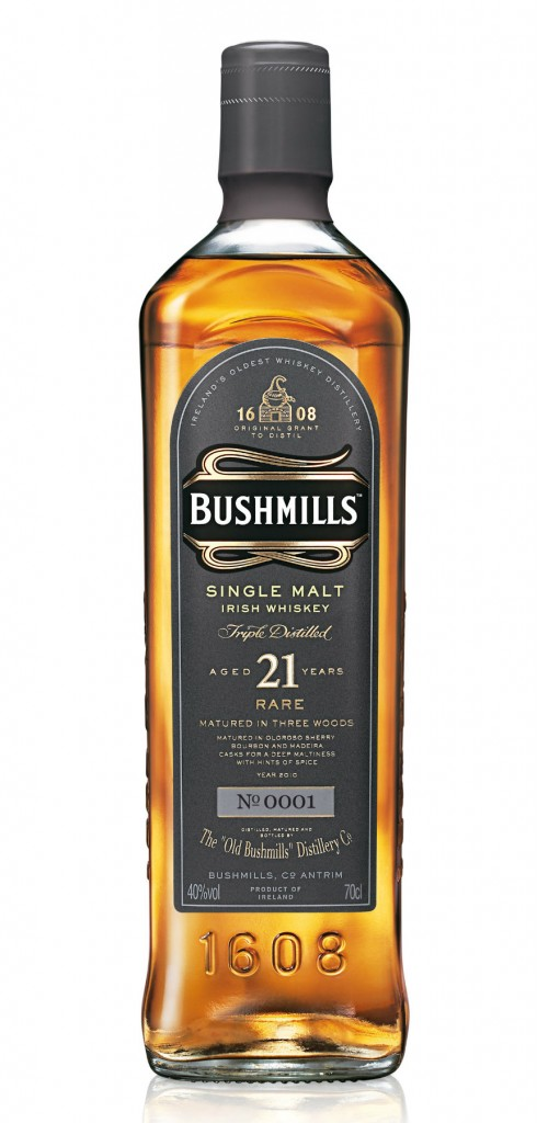 Bushmills 21 Year Old Single Malt Bottle