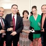 Marlon Rojas, Israel Lara, Ana Luisa Suárez y mamá, Mauricio Lamadrid.