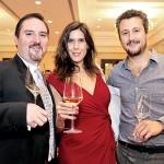 Ángel Rivas, María Forcada y Juan Pablo Ballesteros.