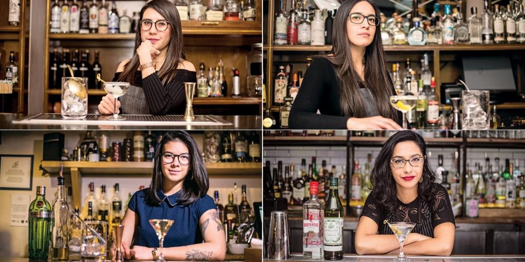 Creaciones de Martini por mixólogas mexicanas