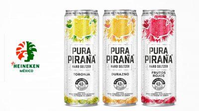 Con Pura Piraña, Heineken México incursiona en la categoría hard seltzer