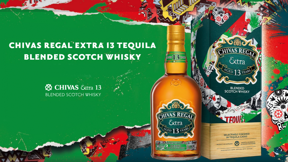 Chivas Regal presenta Extra 13 Tequila