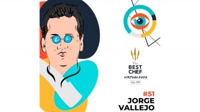 Jorge Vallejo es reconocido en The Best Chef Awards 2020