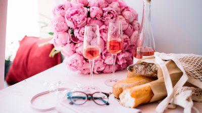 El vino en rosa