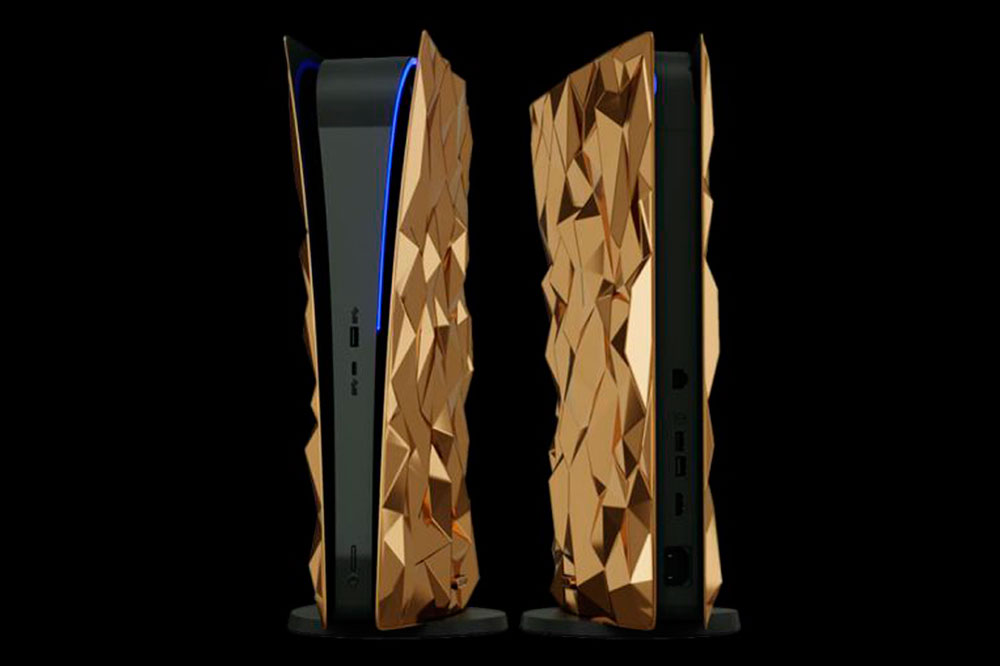 Caviar lanza la PlayStation 5 más lujosa: 20 kg de oro y piel de cocodrilo
