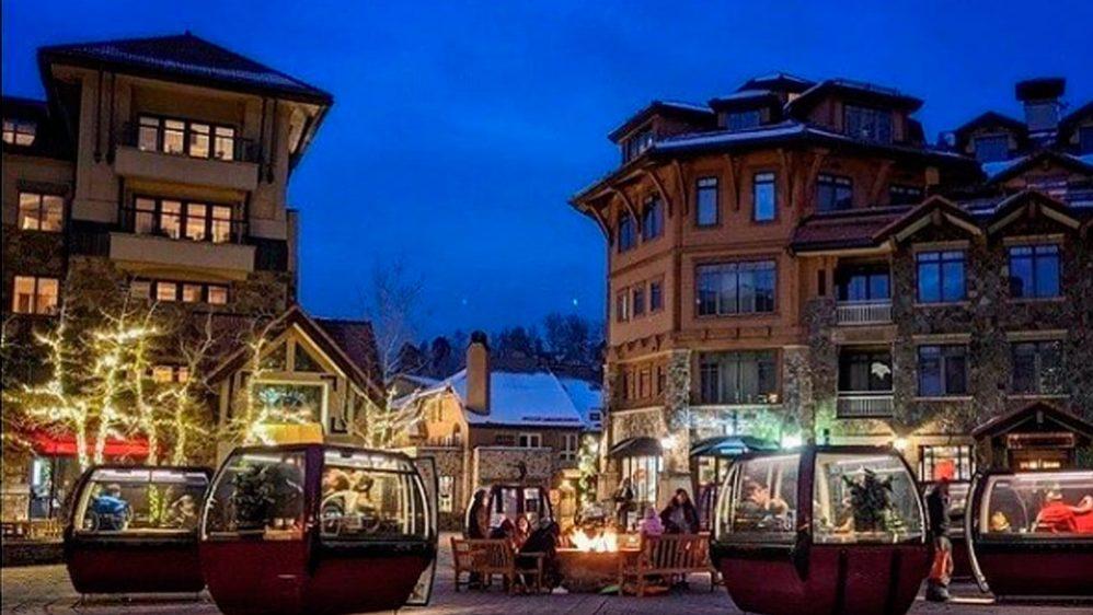 Góndolas de esquí salvan a restaurantes de cerrar por la pandemia