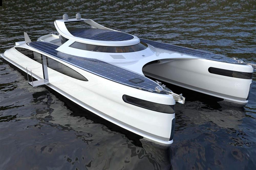 Pagurus, el primer superyate, anfibio y catamarán, alimentado por energía solar