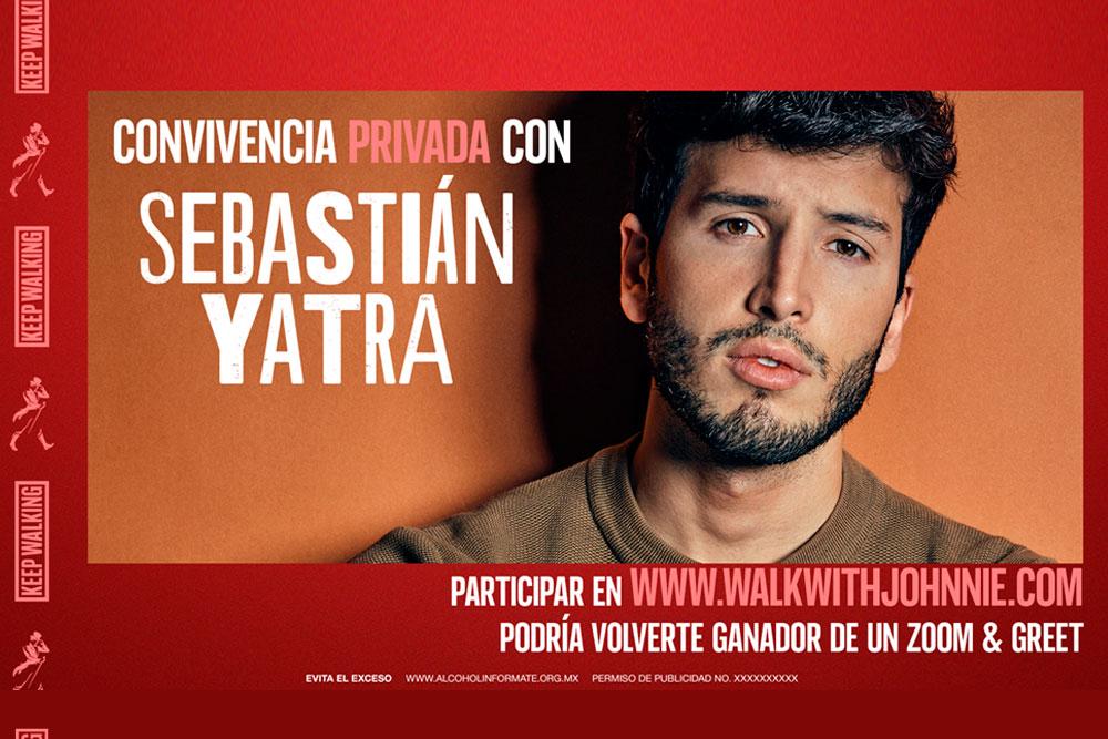 """Sebastián Yatra se une a """"Walk whit Johnnie"""""""