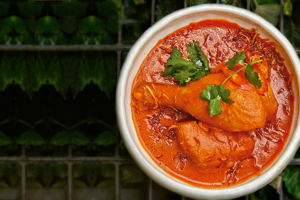 Curry de pollo desde Singapur
