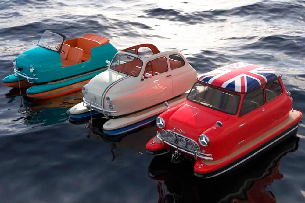 """Con """"Floating Motors"""", Lazzarini lanza al agua autos icónicos"""