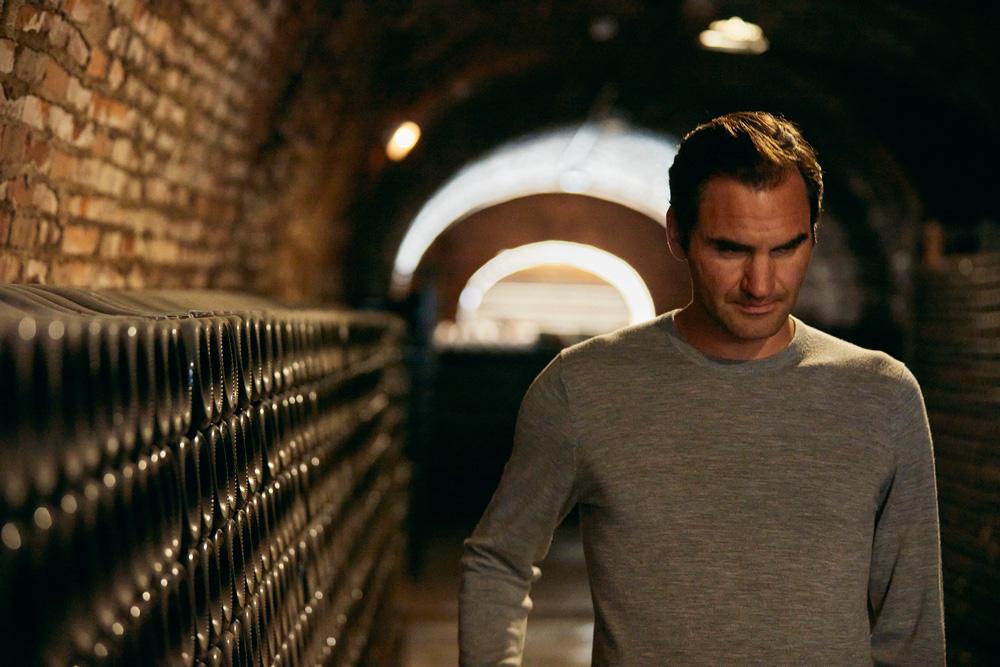Roger Federer se adentra a los procesos e historia de Moët & Chandon