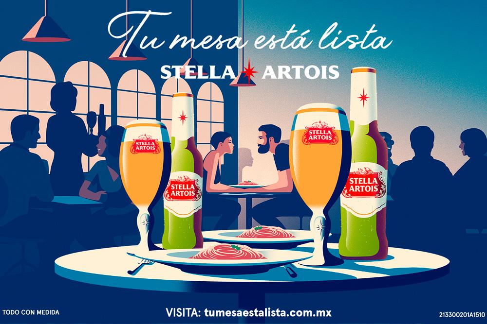 """Con """"Tu mesa está lista"""", Stella Artois te invita a volver a los restaurantes"""
